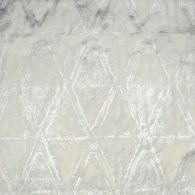 S1875 Silver Fabric: S28, ANNA ELISABETH, SILVER, FOIL, SILVER METALLIC, METALLIC PRINT, GEOMETRIC PRINT, SILVER PRINT, PRINTED VELVET, NEUTRAL GEOMETRIC, WHITE METALLIC PRINT, WHITE PRINTED VELVET