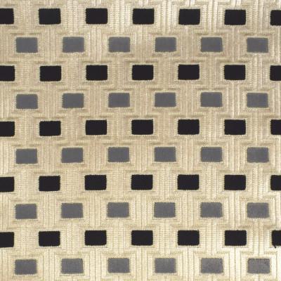 S1898 Granite Fabric: S28, ANNA ELISABETH, CUT VELVET, GEOMETRIC VELVET, GEOMETRIC CUT VELVET, GRAY CUT VELVET, GRAY VELVET, NFPA260, NFPA 260