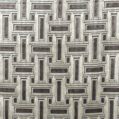 S1901 Truffle Fabric: S28, ANNA ELISABETH, CUT VELVET, METALLIC VELVET, GEOMETRIC CUT VELVET, GEOMETRIC VELVET, TAUPE, BROWN VELVET, TAUPE VELVET, BROWN CUT VELVET, TAUPE CUT VELVET, NFPA260, NFPA 260
