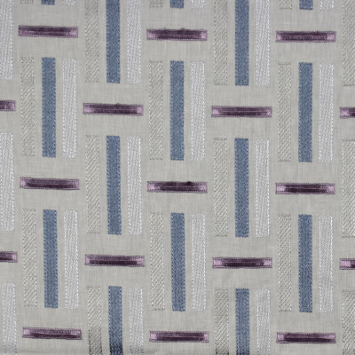 S1927 Wisteria Fabric: S19, ANNA ELISABETH, EMBROIDERY, GEOMETRIC EMBROIDERY, CONTEMPORARY EMBROIDERY, TEXTURED EMBROIDERY, PURPLE AND BLUE GEOMETRIC EMBROIDERY, PURPLE AND BLUE CONTEMPORARY EMBROIDERY
