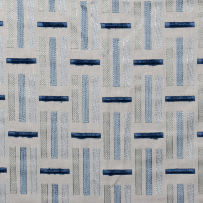 S1928 Stream Fabric: S19, ANNA ELISABETH, EMBROIDERY, GEOMETRIC EMBROIDERY, CONTEMPORARY EMBROIDERY, TEXTURED EMBROIDERY, BLUE GEOMETRIC EMBROIDERY, BLUE CONTEMPORARY EMBROIDERY