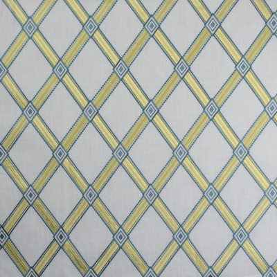 S1936 Summer Fabric: S19, ANNA ELISABETH, EMBROIDERY, DIAMOND EMBROIDERY, GEOMETRIC EMBROIDERY, LATTICE EMBROIDERY, BLUE EMBROIDERY, TEAL EMBROIDERY, YELLOW EMBROIDERY