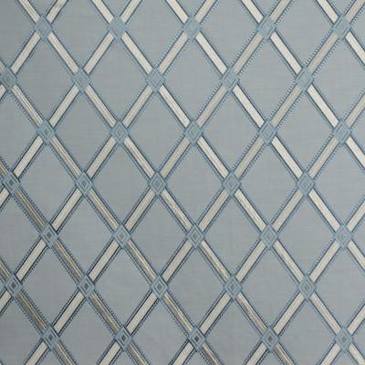 S1937 Carribean Fabric: S19, ANNA ELISABETH, EMBROIDERY, DIAMOND EMBROIDERY, GEOMETRIC EMBROIDERY, LATTICE EMBROIDERY, BLUE EMBROIDERY