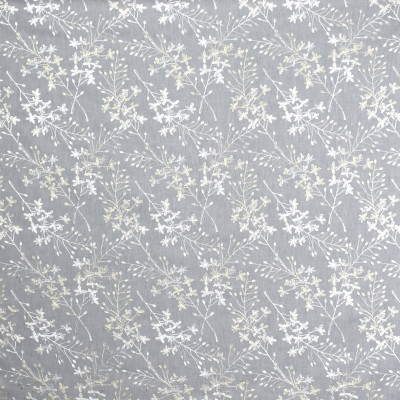 S1950 Chrome Fabric: S19, ANNA ELISABETH, FLORAL EMBROIDERY, EMBROIDERY, FOLIAGE EMBROIDERY, GRAY EMBROIDERY