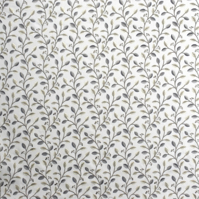 S1955 Artic Fabric: S19, ANNA ELISABETH, EMBROIDERY, FLORAL EMBROIDERY, FOLIAGE EMBROIDERY, NEUTRAL EMBROIDERY, GRAY EMBROIDERY, GREY EMBROIDERY