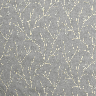 S1960 Chrome Fabric: S19, ANNA ELISABETH, EMBROIDERY, NOVELTY EMBROIDERY, METALLIC EMBROIDERY, METALLIC, NOVELTY, FOLIAGE EMBROIDERY, GRAY EMBROIDERY, DRAGONFLY