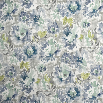 S1996 Grey Frost Fabric: S20, ANNA ELISABETH, PRINT, FLORAL PRINT, WATERCOLOR PRINT, WATERCOLOR FLORAL, BLUE FLORAL, GREEN PRINT, COTTON PRINT, 100% COTTON