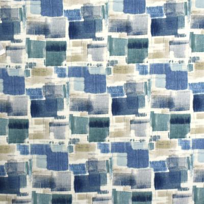 S1999 Denim Fabric: S20, ANNA ELISABETH, PRINT, CONTEMPORARY PRINT, GEOMETRIC PRINT, BLUE PRINT, TEAL PRINT, COTTON PRINT, 100% COTTON
