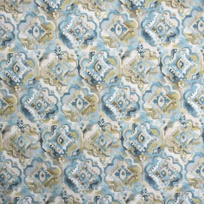 S2007 Beachcomber Fabric: S20, ANNA ELISABETH, PRINT, MEDALLION PRINT, BLUE PRINT, AQUA PRINT, COTTON PRINT, 100% COTTON