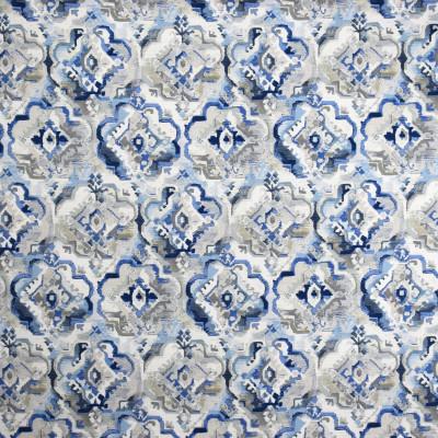 S2008 Bluebird Fabric: S20, ANNA ELISABETH, PRINT, MEDALLION PRINT, BLUE PRINT, COTTON PRINT, 100% COTTON