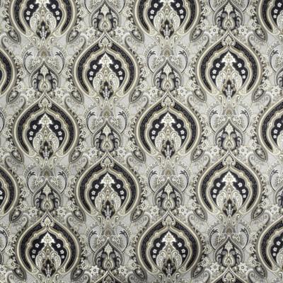 S2010 Ash Fabric: S20, ANNA ELISABETH, PRINT, MEDALLION PRINT, METALLIC PRINT, NEUTRAL PRINT, GRAY PRINT, COTTON PRINT, 100% COTTON