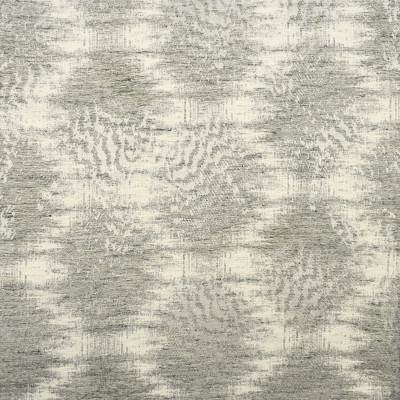 S2044 Fog Fabric: S21, SHIMMER, METALLIC, MEDALLION, EMBROIDERY, ABSTRACT, IKAT, MEDIUM-SCALE, ANNA ELISABETH