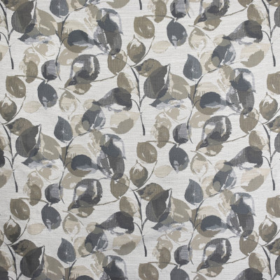 S2058 Slate Fabric: S21, GRAY, GREY, NEUTRAL, WOVEN, FLORAL, FOLIAGE, LEAVES, ANNA ELISABETH