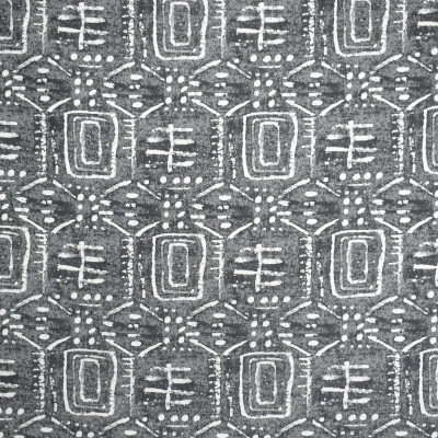 S2059 Metal Fabric: S21, ANNA ELISABETH, CONTEMPORARY, TRIBAL, ETHNIC, GRAY, GRAY AND WHITE, PATTERN, WOVEN