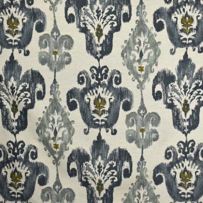 S2089 Tide Fabric: S22, ANNA ELISABETH, ANNA, ELISABETH, WOVEN, BLUE, BLUE WOVEN, TEXTURE, IKAT, MEDALLION, MOTIF, MEDALLION MOTIF, SCROLL, SCROLL MOTIF, TRIBAL, CONTEMPORARY, EARTHY, BLUE IKAT