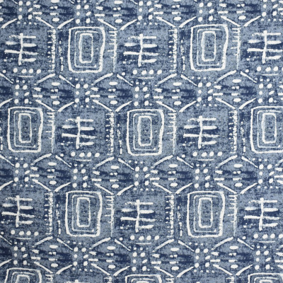 S2094 Indigo Fabric: S22, ANNA ELISABETH, ANNA, ELISABETH, WOVEN, BLUE, BLUE WOVEN, ABSTRACT, BLUE ABSTRACT, CONTEMPORARY, STROKE, PAINT STROKE, PAINTERLY, GLOBAL, EARTHY, NATURAL