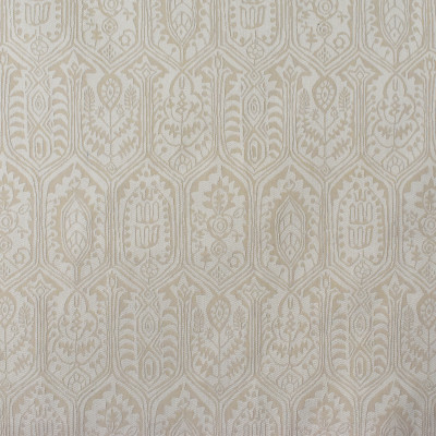 S2270 Parchment Fabric: S26, ANNA ELISABETH, CRYPTON, PERFORMANCE, CRYPTON FINISH, CRYPTON HOME, EASY TO CLEAN, ANTI-MICROBIAL, STAIN RESISTANT, IKAT, NEUTRAL MEDALLION, MEDALLION CRYPTON, CRYPTON MEDALLION, TAN, CREAM