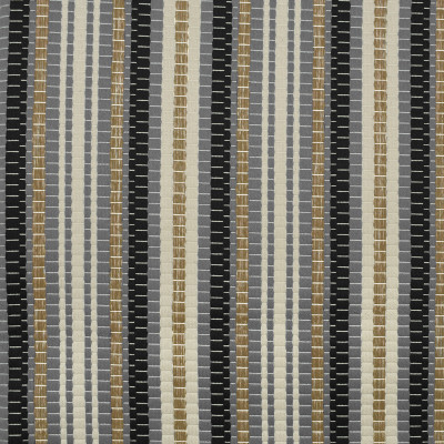 S2313 Noir Fabric: S26, ANNA ELISABETH, CRYPTON, PERFORMANCE, CRYPTON FINISH, CRYPTON HOME, EASY TO CLEAN, ANTI-MICROBIAL, STAIN RESISTANT, WOVEN STRIPE, BLACK STRIPE, GRAY STRIPE, MULTICOLOR STRIPE