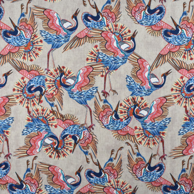 S2320 Ember Fabric: S27, ANNA ELISABETH, CRYPTON, CRYPTON HOME, PERFORMANCE, KID FRIENDLY, PET FRIENDLY, ANTI-MICROBIAL, STAIN RESISTANT, EASY TO CLEAN, CRYPTON PRINT, NOVELTY PRINT, ANIMAL, BIRD, MULTICOLOR BIRD PRINT, MULTICOLOR, BIRDS, PRINT, NFPA260, NFPA 260