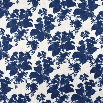 S2376 Indigo Fabric: S27, ANNA ELISABETH, CRYPTON, CRYPTON HOME, PERFORMANCE, KID FRIENDLY, PET FRIENDLY, ANTI-MICROBIAL, STAIN RESISTANT, EASY TO CLEAN, FLORAL PRINT, FOLIAGE PRINT, CRYPTON PRINT, BLUE PRINT, BLUE, BLUE FOLIAGE, BLUE FLORAL, NFPA260, NFPA 260