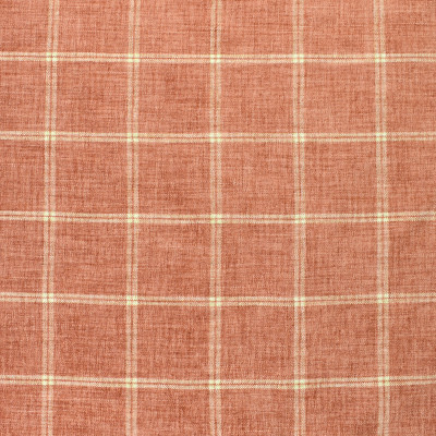 S2395 Coral Fabric: S29, PLAID CHENILLE, CHENILLE PLAID, PINK PLAID, TRADITIONAL PLAID