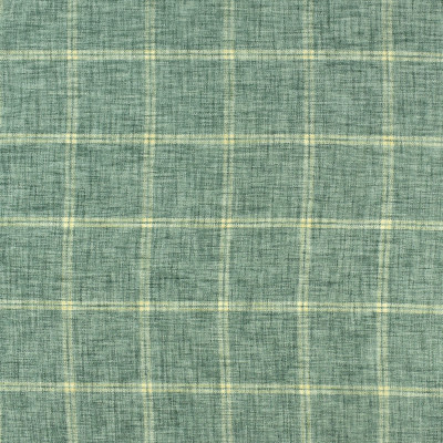 S2398 Bottle Glass Fabric: S29, PLAID CHENILLE, CHENILLE PLAID, BLUE PLAID, AQUA, TRADITIONAL PLAID
