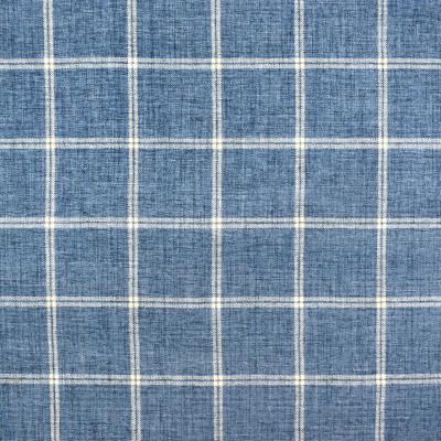 S2404 Harbor Fabric: S29, PLAID CHENILLE, CHENILLE PLAID, BLUE PLAID, TRADITIONAL PLAID