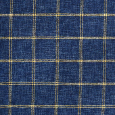 S2420 Indigo Fabric: S29, PLAID CHENILLE, CHENILLE PLAID, NAVY PLAID, INDIGO, TRADITIONAL PLAID