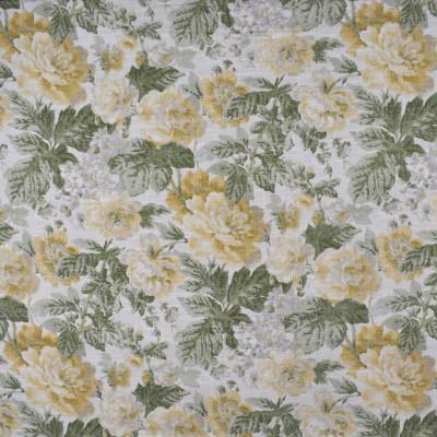 S2474 Endive Fabric: S31, ANNA ELISABETH, FLORAL PRINT, YELLOW FLORAL, GREEN FLORAL, FAUX LINEN PRINT, YELLOW FAUX LINEN