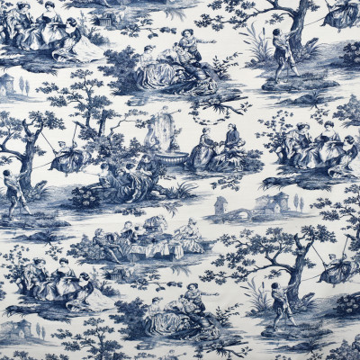 S2508 Sapphire Fabric: S31, ANNA ELISABETH, 100% COTTON, COTTON PRINT, BLUE TOILE, ASIAN BLUE, BLUE ASIAN PRINT, TOILE PRINT, TOILE, ASIAN PRINT, WINDOW, DRAPERY
