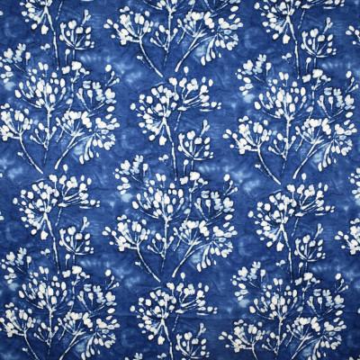 S2512 Indigo Fabric: S31, ANNA ELISABETH, 100% COTTON, COTTON PRINT, BLUE FOLIAGE, FOLIAGE PRINT, BLUE FLORAL, FLORAL PRINT, SHIBORI, INDIGO, WINDOW, DRAPERY