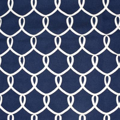 S2515 Indigo Fabric: S31, ANNA ELISABETH, TEXTURE EMBROIDERY, NAUTICAL, TEXTURED EMBROIDERY, INDIGO, MEDALLION EMBROIDERY, MEDALLION TEXTURE, NAUTICAL EMBROIDERY, WINDOW, DRAPERY