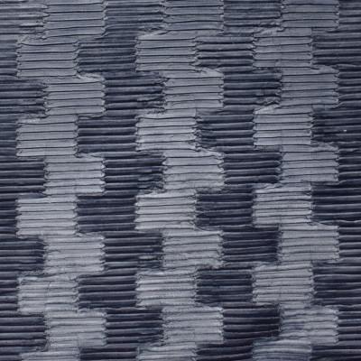 S2518 Midnight Fabric: S31, ANNA ELISABETH, PLEAT, CONTEMPORARY TEXTURE, CONTEMPORARY CHENILLE, PLEATED, NAVY, MIDNIGHT BLUE