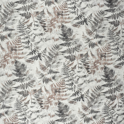 S2557 Flint Fabric: S32, ANNA ELISABETH, 100% COTTON, COTTON PRINT, FOLIAGE PRINT, GRAY FOLIAGE, GREY FOLIAGE, GRAY PRINT, GREY PRINT, MAUVE PRINT, WINDOW, DRAPERY