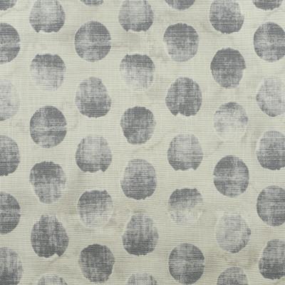 S2561 Fog Fabric: S32, ANNA ELISABETH, DOT PRINT, POLKA DOT, POLKA DOTS, COTTON PRINT, 100% COTTON, GRAY DOT, GREY DOT, GRAY PRINT, GREY PRINT, WINDOW, DRAPERY