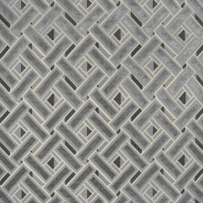 S2565 Sterling Fabric: S32, ANNA ELISABETH, LATTICE CUT VELVET, LATTICE, GEOMETRIC CUT VELVET, CUT VELVET, TEXTURED VELVET, LATTICE TEXTURE, GRAY, GRAY CUT VELVET