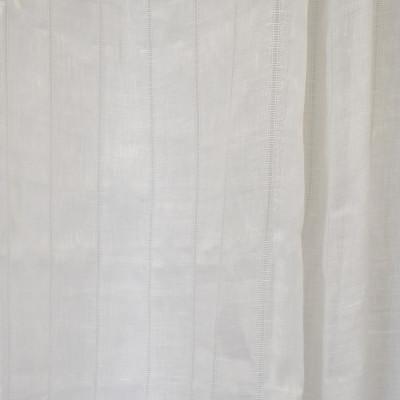 S2612 Off White Fabric: S33, WINDOW, ANNA ELISABETH, DRAPERY, WHITE, WHITE STRIPE, STRIPE WINDOW, WHITE WINDOW STRIPE, WINDOW STRIPE, WHITE LINEN, LINEN, 100% LINEN, LINEN STRIPE, STRIPE LINEN