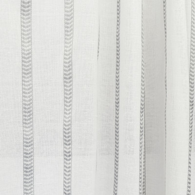 S2618 Fog Fabric: S33, WINDOW, ANNA ELISABETH, DRAPERY, GRAY, GREY, GRAY STRIPE, STRIPE WINDOW, GRAY WINDOW STRIPE, WINDOW STRIPE, GRAY FAUX LINEN, FAUX LINEN, FAUX LINEN STRIPE, STRIPE FAUX LINEN, GRAY WINDOW