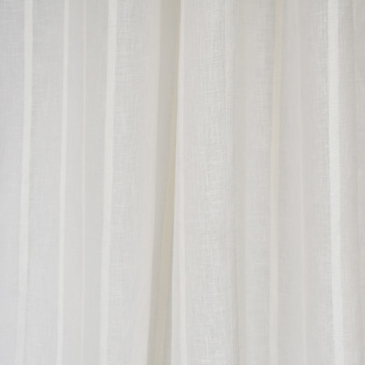 S2621 Icicle Fabric: S33, WINDOW, ANNA ELISABETH, DRAPERY, WHITE, WHITE STRIPE, STRIPE WINDOW, WHITE WINDOW STRIPE, WINDOW STRIPE, WHITE FAUX LINEN, FAUX LINEN, FAUX LINEN STRIPE, STRIPE FAUX LINEN