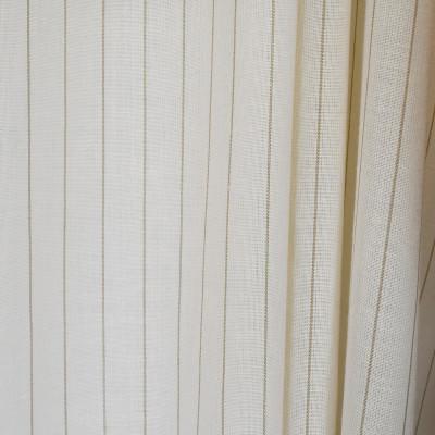 S2628 Eggshell Fabric: S33, WINDOW, ANNA ELISABETH, DRAPERY, NEUTRAL STRIPE, STRIPE WINDOW, NEUTRAL WINDOW STRIPE, WINDOW STRIPE, NEUTRAL FAUX LINEN, FAUX LINEN, FAUX LINEN STRIPE, STRIPE FAUX LINEN, NATURAL
