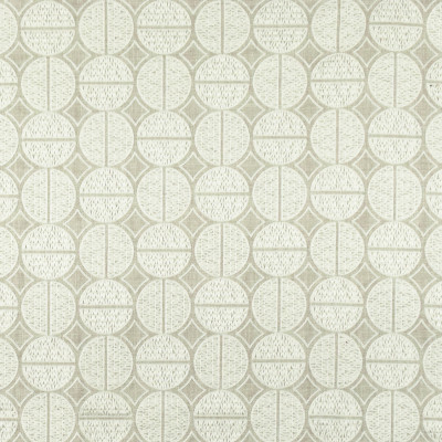 S2640 Oyster Fabric: M03, S34, WINDOW, ANNA ELISABETH, DRAPERY, EMBROIDERY, MEDALLION, MEDALLION EMBROIDERY, WHITE MEDALLION, WHITE EMBROIDERY, GEOMETRIC, GEOMETRIC EMBROIDERY, WHITE GEOMETRIC, NEUTRAL EMBROIDERY, WHITE, NEUTRAL
