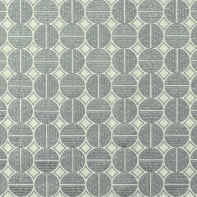 S2642 Pewter Fabric: S34, WINDOW, ANNA ELISABETH, DRAPERY, EMBROIDERY, MEDALLION, MEDALLION EMBROIDERY, GRAY MEDALLION, GRAY EMBROIDERY, GEOMETRIC, GEOMETRIC EMBROIDERY, GRAY GEOMETRIC, PEWTER, GRAY, GREY