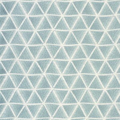 S2648 Sky Fabric: S34, WINDOW, ANNA ELISABETH, DRAPERY, EMBROIDERY, GEOMETRIC, GEOMETRIC EMBROIDERY, TRIANGLES, BLUE, SKY, BLUE EMBROIDERY, LIGHT BLUE EMBROIDERY, LIGHT BLUE, BLUE GEOMETRIC