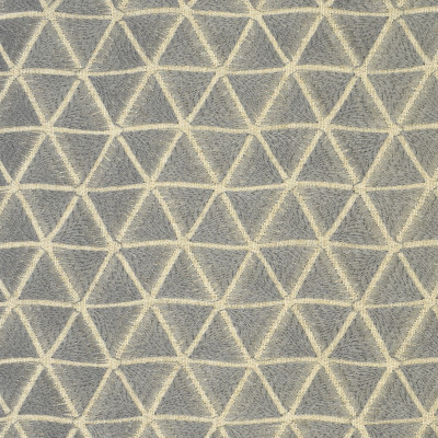 S2650 Pewter Fabric: S34, GRAY, GREY, WINDOW, ANNA ELISABETH, DRAPERY, EMBROIDERY, GEOMETRIC, GEOMETRIC EMBROIDERY, TRIANGLES, GRAY, PEWTER, GRAY EMBROIDERY, PEWTER EMBROIDERY, GRAY GEOMETRIC