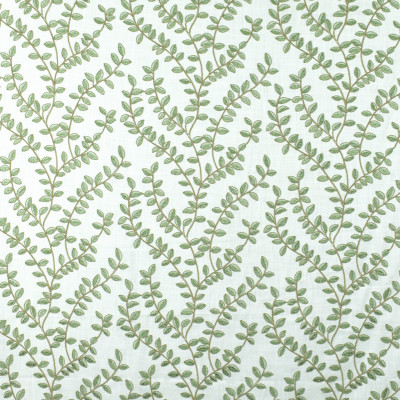 S2672 Green Tea Fabric: S34, WINDOW, ANNA ELISABETH, DRAPERY, EMBROIDERY, FOLIAGE, FLORAL, FOLIAGE EMBROIDERY, FLORAL EMBROIDERY, GREEN FOLIAGE, GREEN EMBROIDERY, GREEN