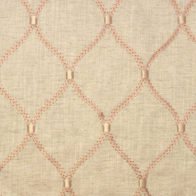 S2676 Blush Fabric: S34, WINDOW, ANNA ELISABETH, DRAPERY, EMBROIDERY, OGEE, OGEE EMBROIDERY, MEDALLION, MEDALLION EMBROIDERY, LATTICE, LATTICE EMBROIDERY, GEOMETRIC, GEOMETRIC EMBROIDERY, BLUSH MEDALLION, BLUSH EMBROIDERY, BLUSH LATTICE, BLUSH GEOMETRIC, BLUSH OGEE, PINK, BLUSH