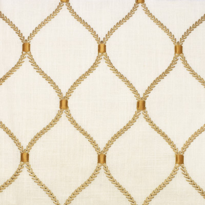S2677 Gilded Fabric: S34, WINDOW, ANNA ELISABETH, DRAPERY, EMBROIDERY, OGEE, OGEE EMBROIDERY, MEDALLION, MEDALLION EMBROIDERY, LATTICE, LATTICE EMBROIDERY, GEOMETRIC, GEOMETRIC EMBROIDERY, GOLD MEDALLION, GOLD EMBROIDERY, GOLD LATTICE, GOLD GEOMETRIC, GOLD OGEE, NEUTRAL, GOLD, NEUTRAL MEDALLION, NEUTRAL OGEE