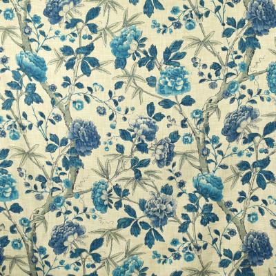 S2697 Delft Fabric: S35, ANNA ELISABETH, LARGE PRINT, LARGE SCALE, FLORAL PRINT, BLUE FLORAL, BLUE PRINT, DELFT, DELFT BLUE, JACOBEAN, JACOBEAN FLORAL