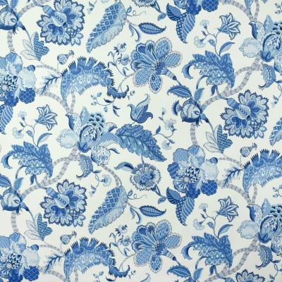 S2698 Marina Fabric: S35, ANNA ELISABETH, LARGE PRINT, LARGE SCALE, PRINT, COTTON, COTTON PRINT, 100% COTTON, BLUE FLORAL, BLUE PRINT, FLORAL PRINT, JACOBEAN, JACOBEAN PRINT
