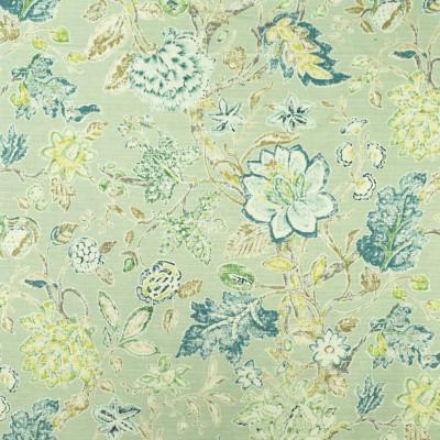 S2703 Mist Fabric: S35, ANNA ELISABETH, LARGE PRINT, LARGE SCALE, PRINT, COTTON, COTTON PRINT, 100% COTTON, FLORAL PRINT, COTTON FLORAL, GREEN FLORAL, BLUE FLORAL, JACOBEAN, JACOBEAN PRINT